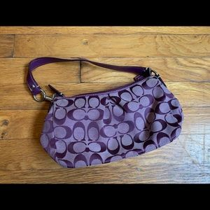 Small purple coach bag